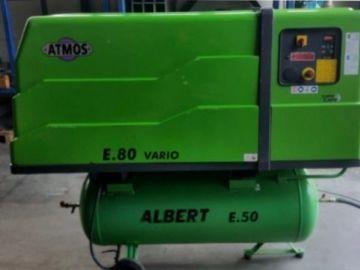 Zánovní šroubový kompresor Atmos E.80 Vario s frekvenčním měničem