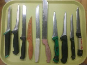 Nože kuchyňské použité
